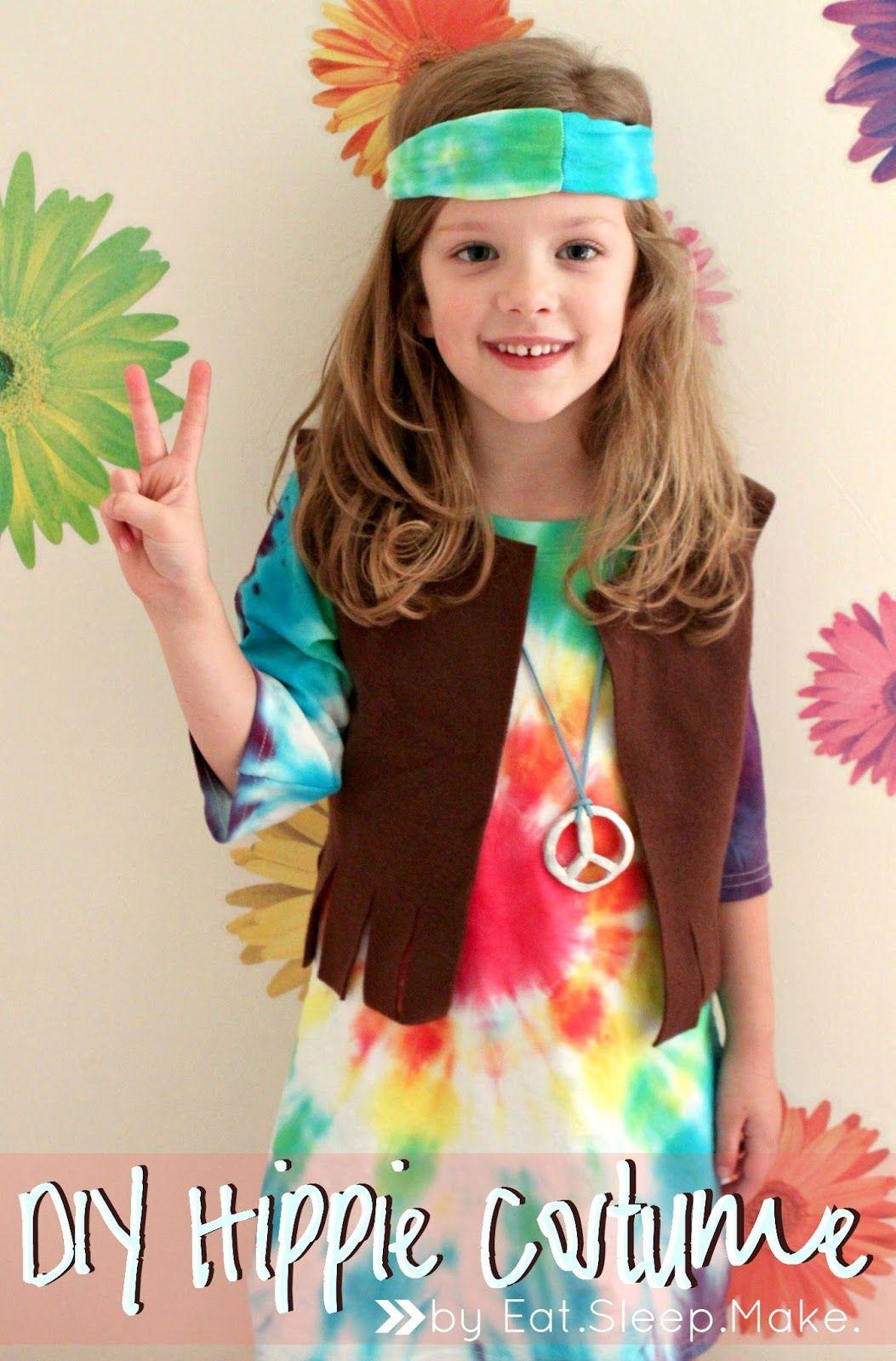 Groovy Girl Costume Kids 60s 70s Outfit Halloween Fancy Dress