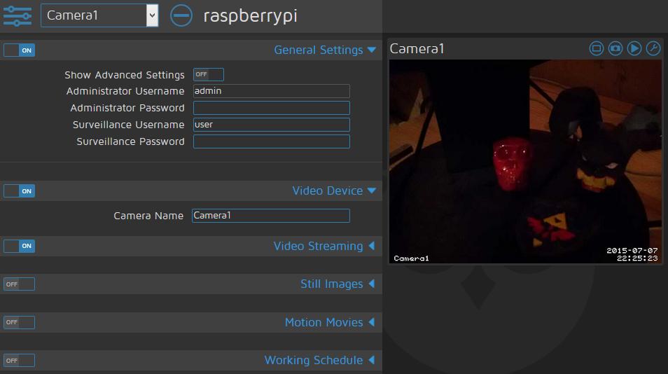 Raspberry Pi et Vidéo surveillance : configuration de MotionEye