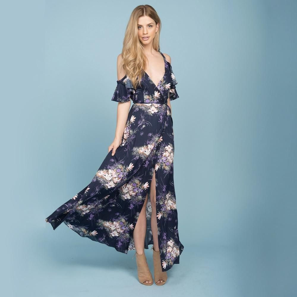 She swings navy floral maxi dress | Products