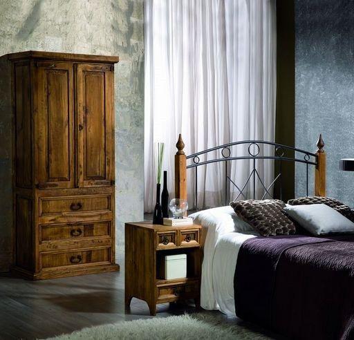 Dormitorio de madera maciza de aspecto rústico pero líneas actuales ...