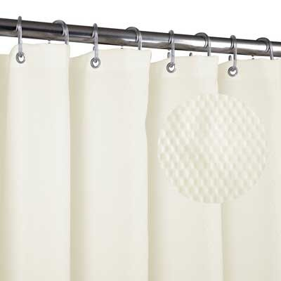 Home Queen Waffle Weave Mold resistant Shower curtain | Best Shower ...