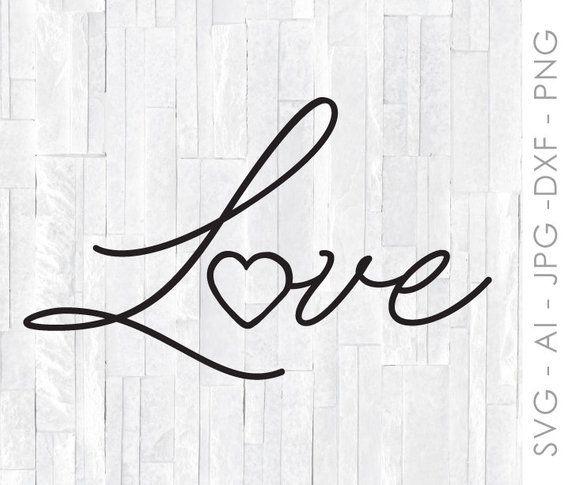Download Handwritten Love for Cricut, Handdrawn SVG Clipart ...