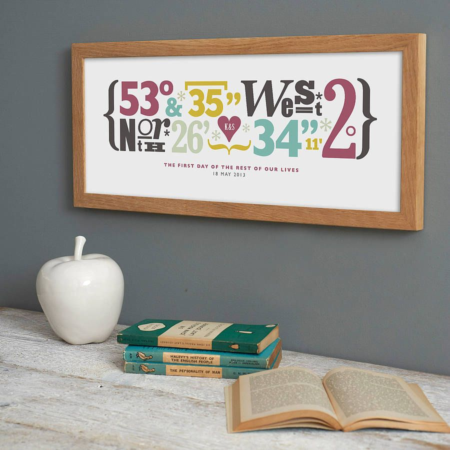 Most Thoughtful Wedding Gift Ever: Personalised Coordinates Print