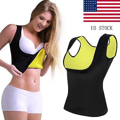 376625c48844d Hot Sweat Sauna Body Shaper Women Slimming Vest Thermo Neoprene Waist  Trainer US