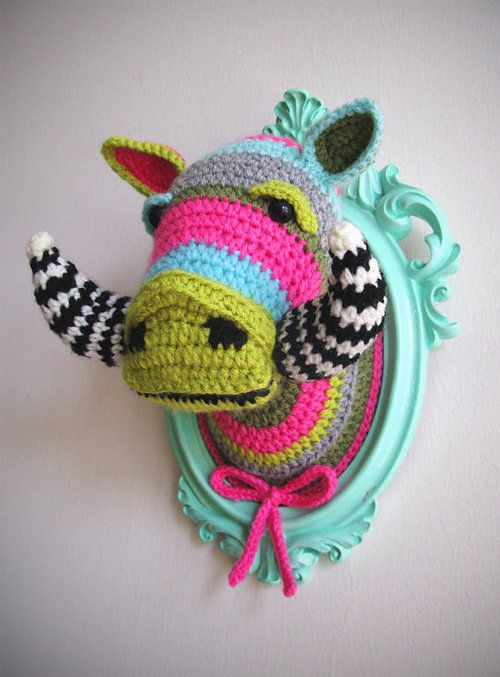 positivemotivation: Crochet Animal Heads by... |
