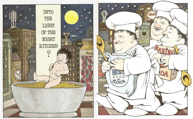 Kết quả hình ảnh cho maurice sendak in the night kitchen