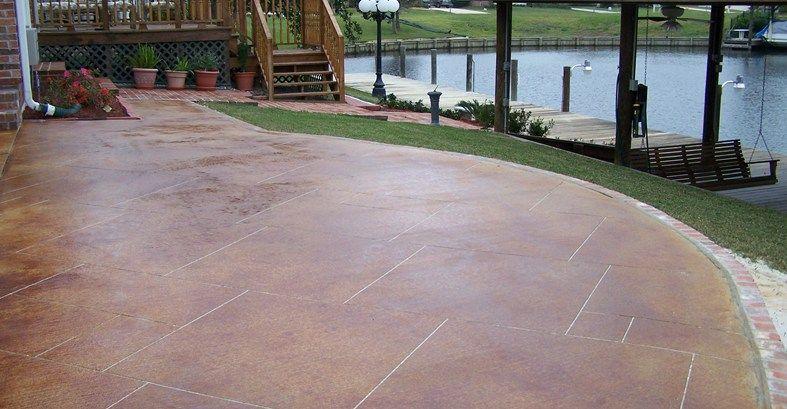 Nice STAINING CONCRETE PATIOS Red Stain, Sawcut Grout Lines Concrete Patios  Artistic Concrete Floors LLC Covington