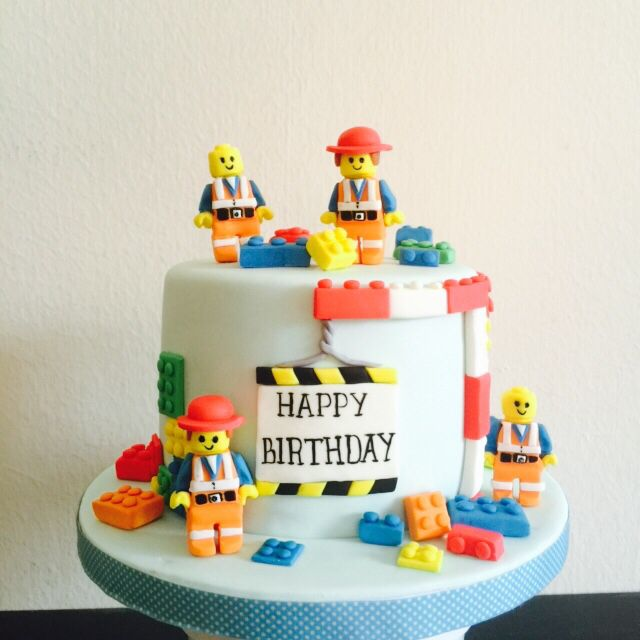 Lego cake by baking witch