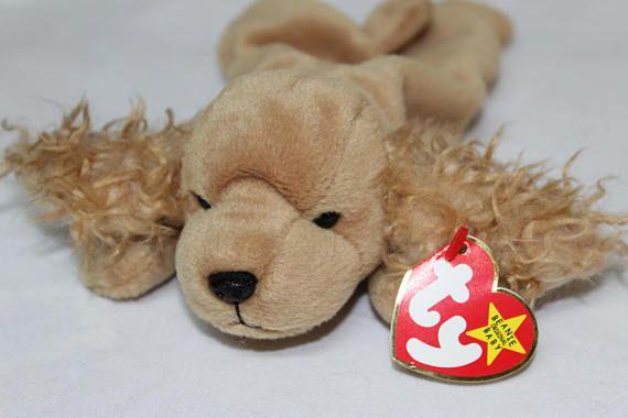 MINT RETIRED Ty Beanie Baby /'Spunky/' the Spaniel