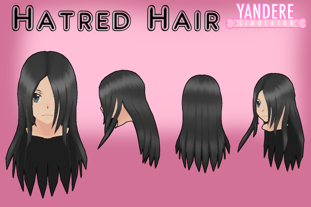 Yandere Simulator Hatred Hair By Qvajangel Yandere Simulator Yandere Anime Hair