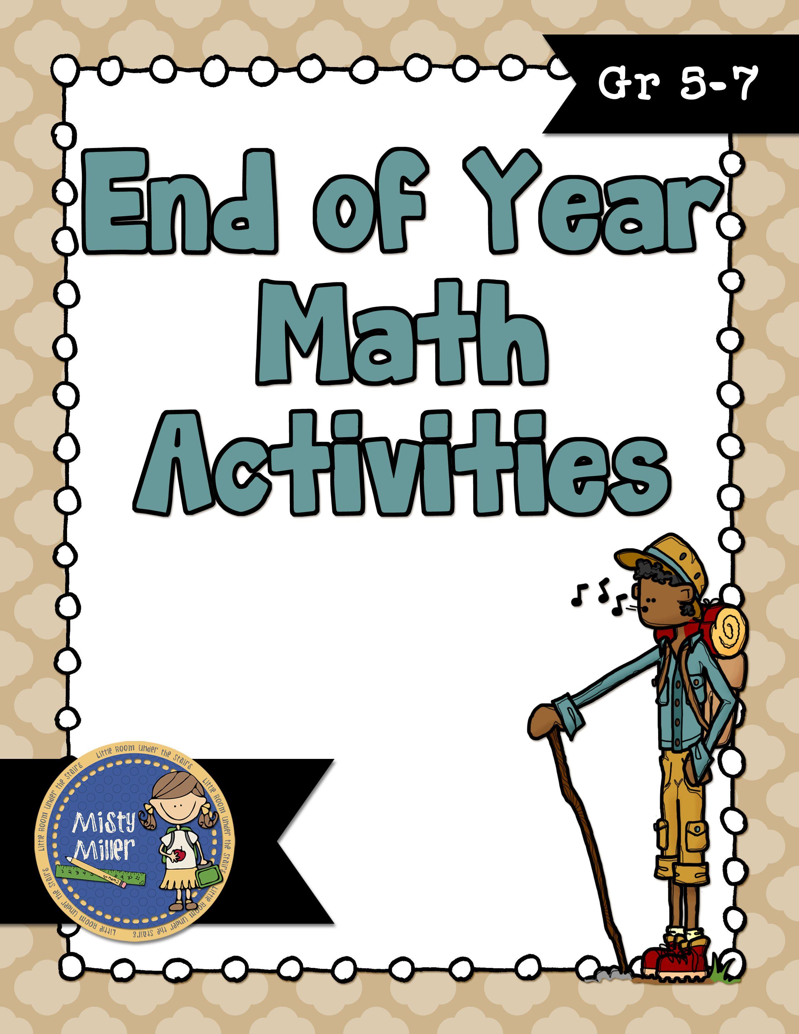 End Of Year Math Activities Includes Six Math Activities Gr 5 7 Https Www Teacherspayteachers Com Product End Of Year Ma Math Activities Math Learning Math [ 3300 x 2550 Pixel ]