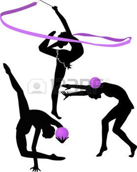 Gymnastique rythmique illustration gymnaste silhouette - Dessin de grs ...