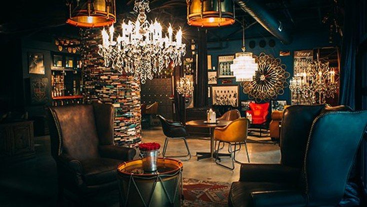 The Blue Room at the LA Athletic Club designed by Timothy Oulton   Scotch and Nonsense