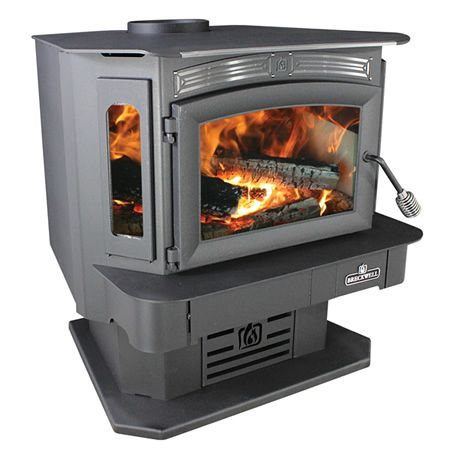 Breckwell Sw940 Bay Front Wood Stove With Blower Wood Stove Stove Wood Furnace