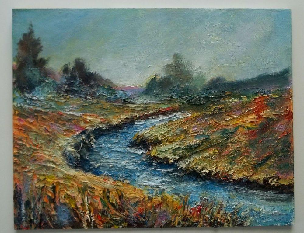 Gail Grant California impressionist oil painting Palette Knife landscape TEXTURE #Impressionism