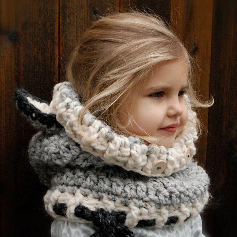 Neck Warmer Wrap Scarf Winter Child Earmuffs Crochet Ear Cover Fox ...