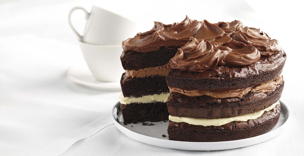 Ghirardelli Recipe: Ombre Brownie Cake
