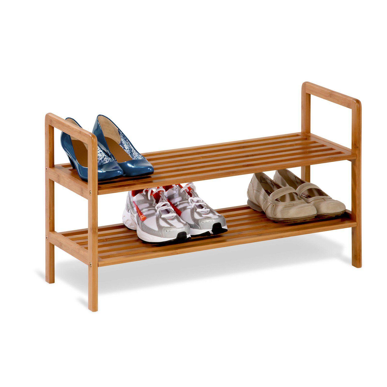 Honey Can Do Bamboo Shoe Shelf Bamboo Shoe Rack Wooden Shoe
