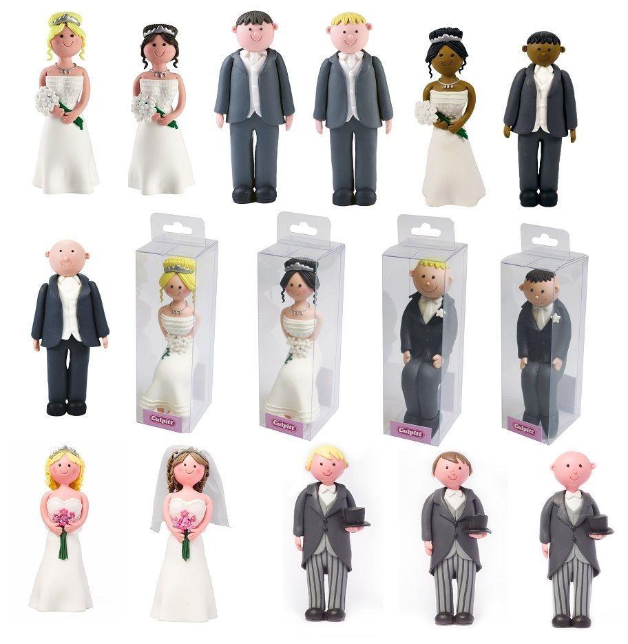 Culpitt Bride & Groom claydough wedding cake toppers Various Types ...