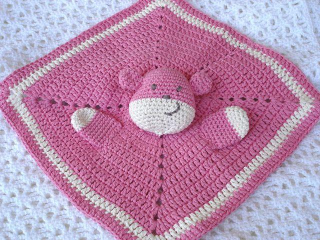 Teddy Schnuffeltuch ;O) free pattern | Häkeln für Kind & Baby ...