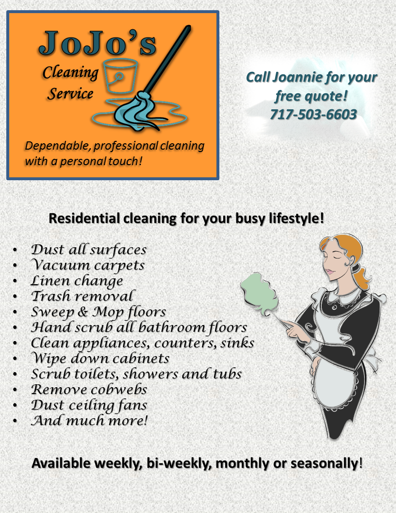 JoJo\'s Cleaning Service flyer! | cleaning service | Pinterest ...