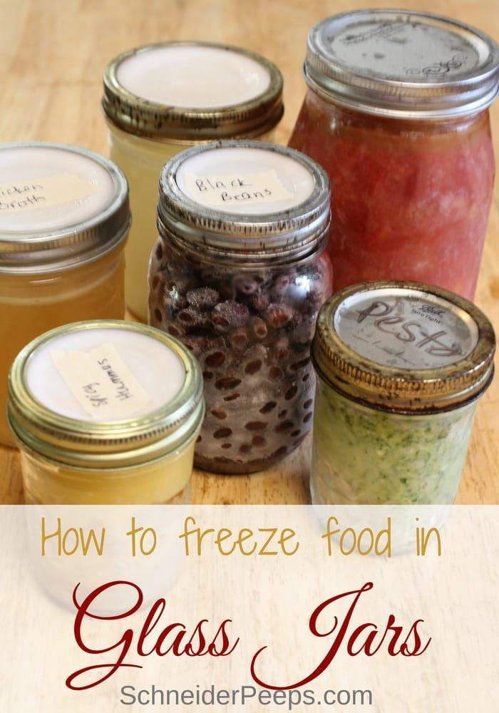 How to successfully freeze in glass jars