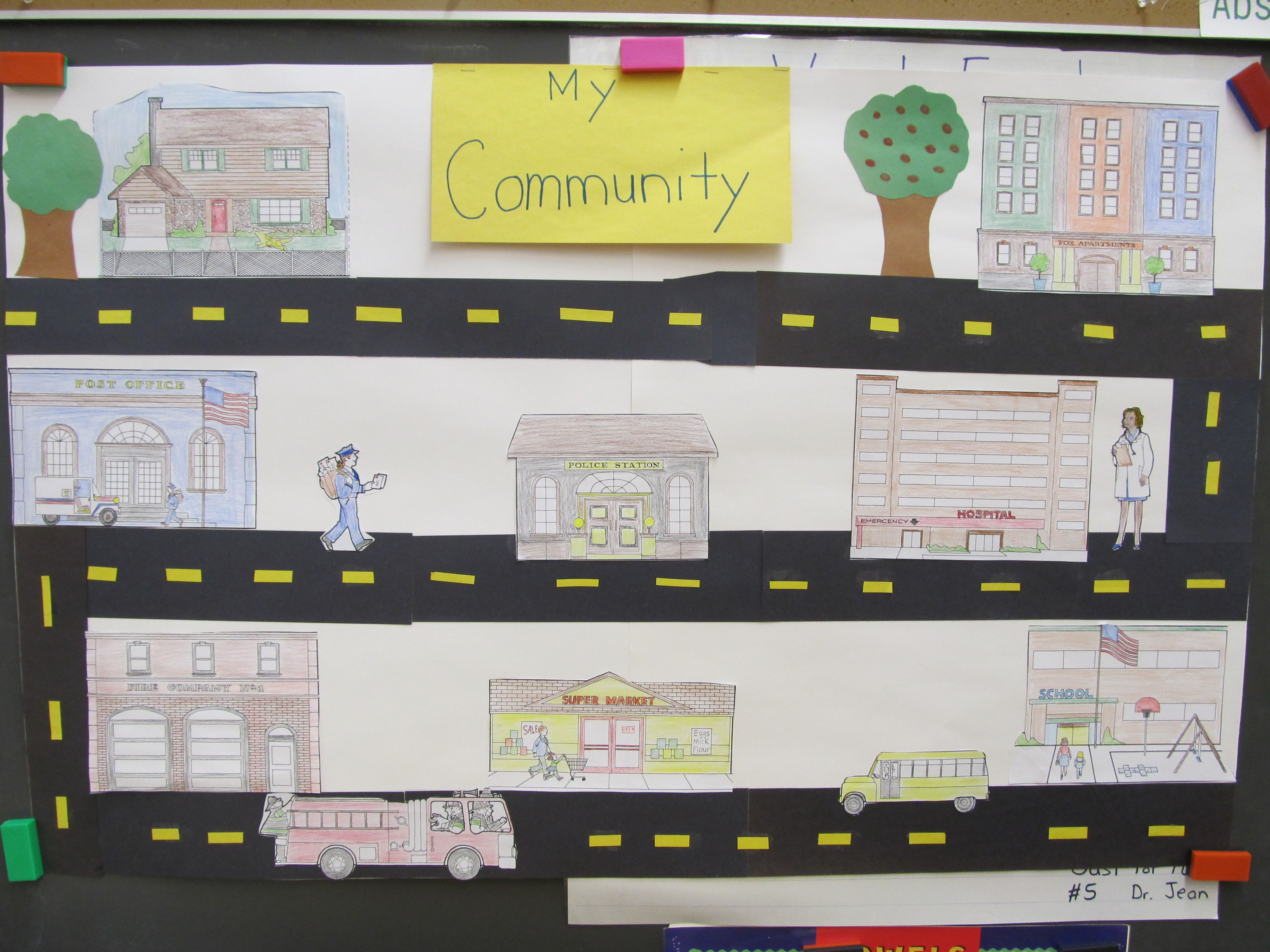 Poster For My Kindergarten Community Unit Traveling To