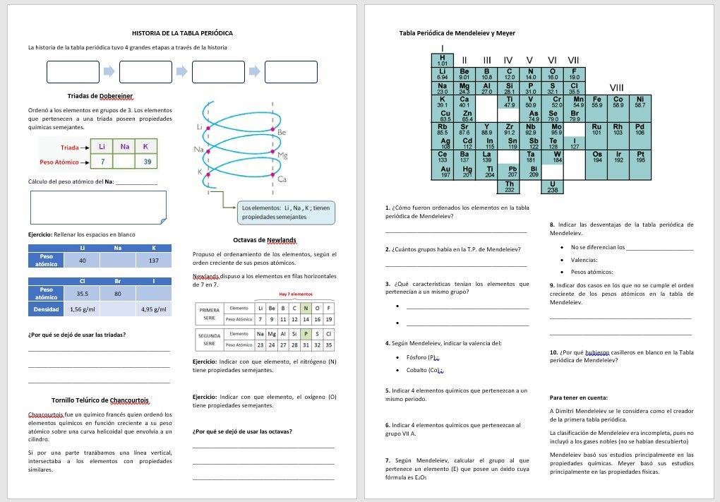 tutorial historia de la tabla periodica separata para descargar en formato