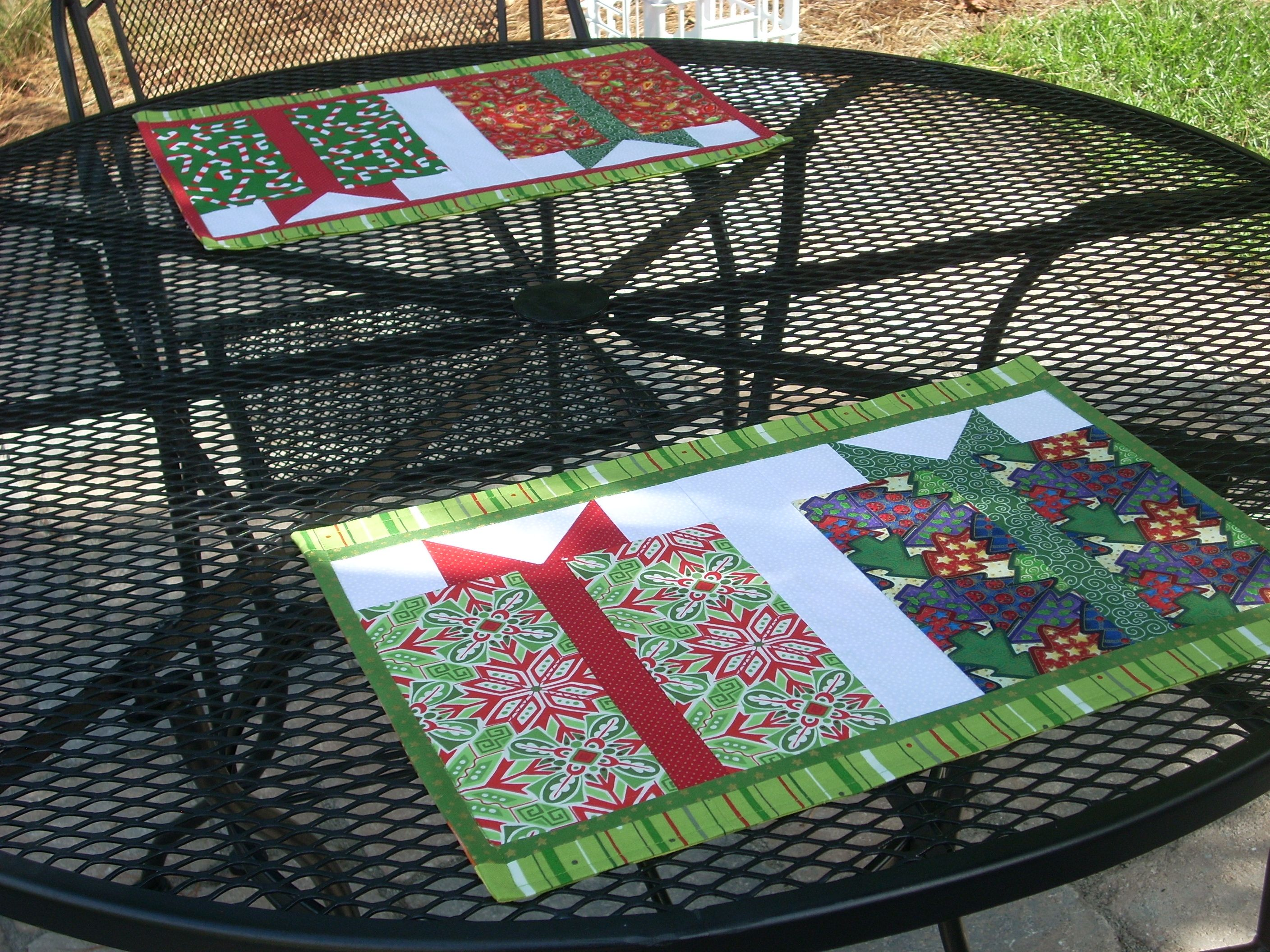 Christmas Placemat Patterns Simple Decorating Ideas