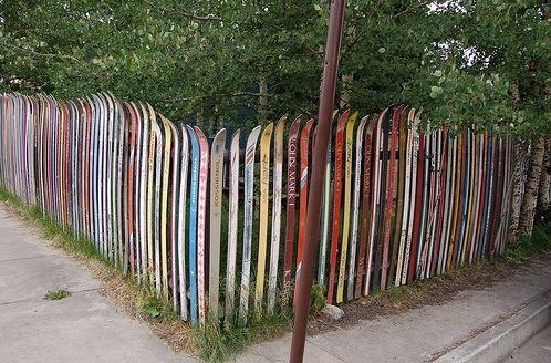Ski fence design ski pinterest palissade jardins et barri re - Deco jardin fait main caen ...