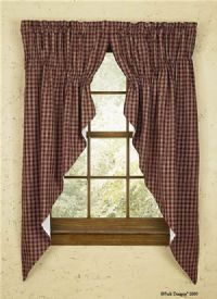 Primitive Curtains On Clearance Gathered Swag Country Decor
