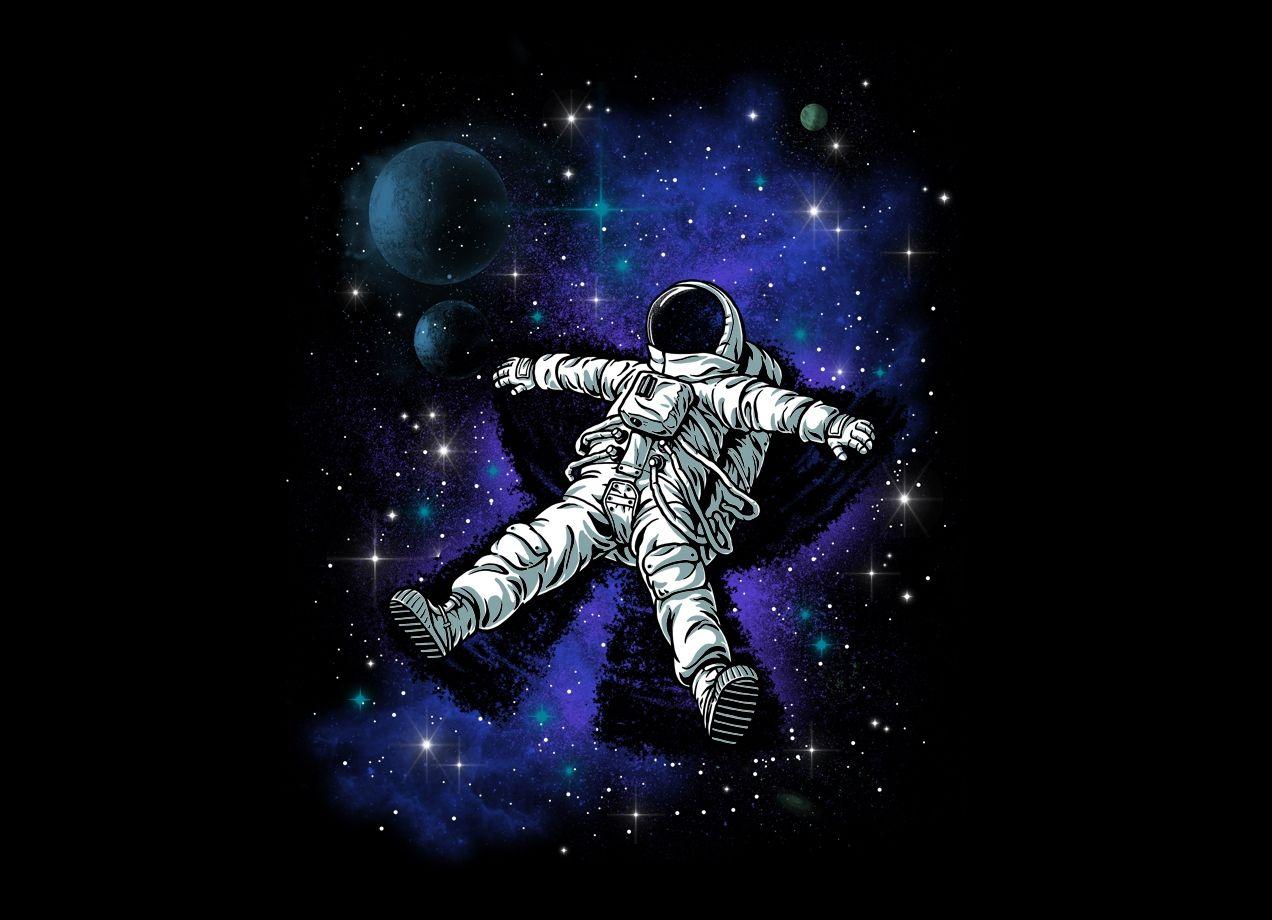 Astronaut S Snow Angel Astronaut Art Space Illustration Art