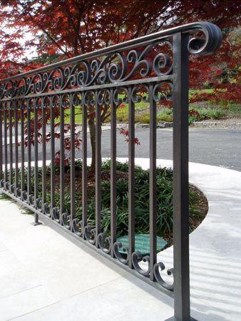 Jozef Custom Ironworks Iron Bronze Curved Stair Railings | Long Island Custom Railings | Wrought Iron | Aluminum Railings | Staircase | Stairs | Porch