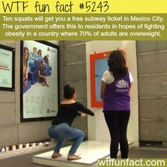 """Mexico's newest way of fighting Obesity - Hmm! ...I can see it now. IF the program works, the amount/""""price"""" of Squats will definitely INCREASE!  ~WTF! weird & interesting fun facts"""