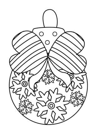 Coloriage boule de Noël cœurs et flocons | Coloriage boule de noel, Coloriage noel, Coloriage