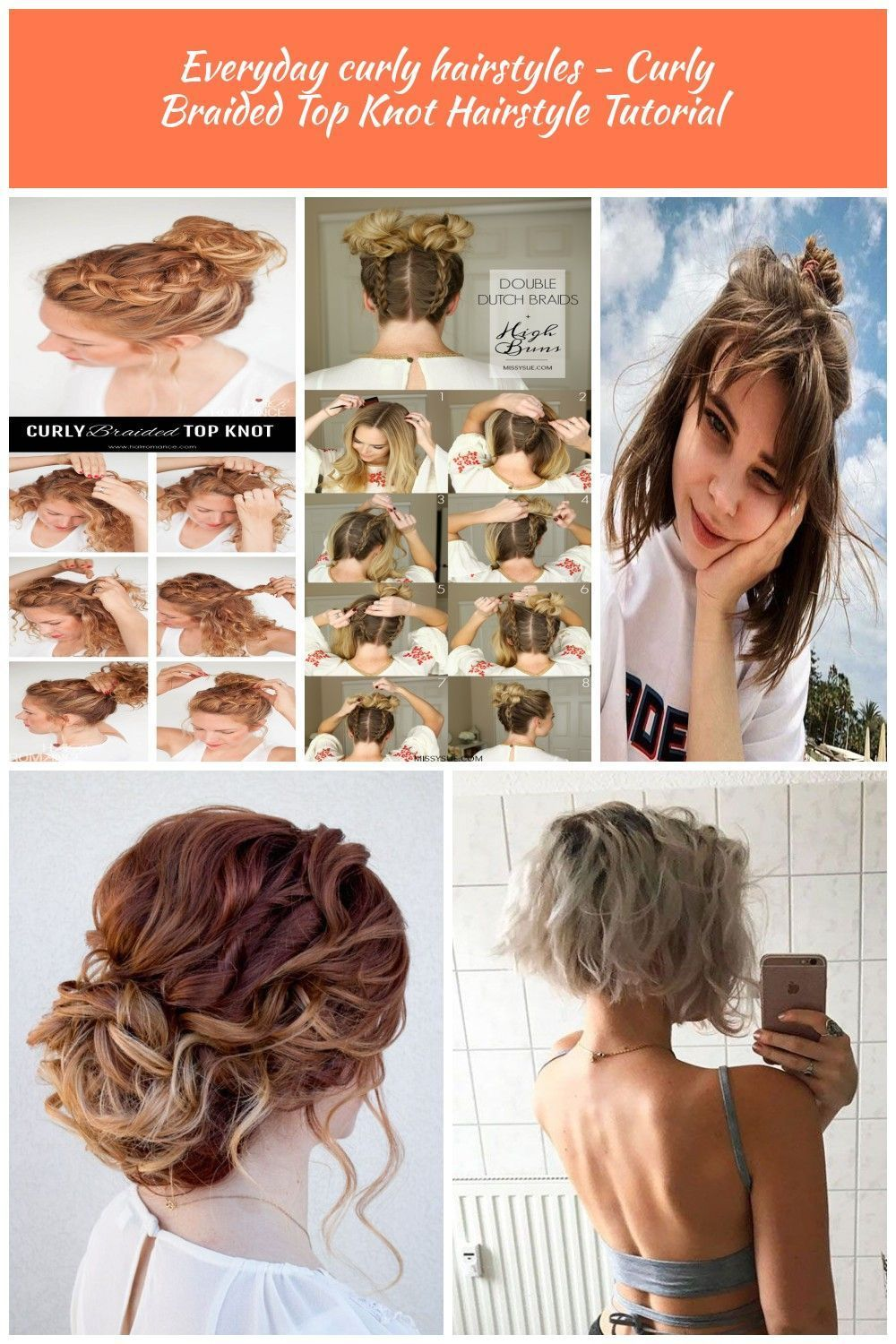 Everyday Curly Hairstyles Curly Braided Top Knot Hairstyle Tutorial Curly Hair Styles Everyd Curly Hair Styles Braided Top Knot Hairstyle Top Knot Hairstyles