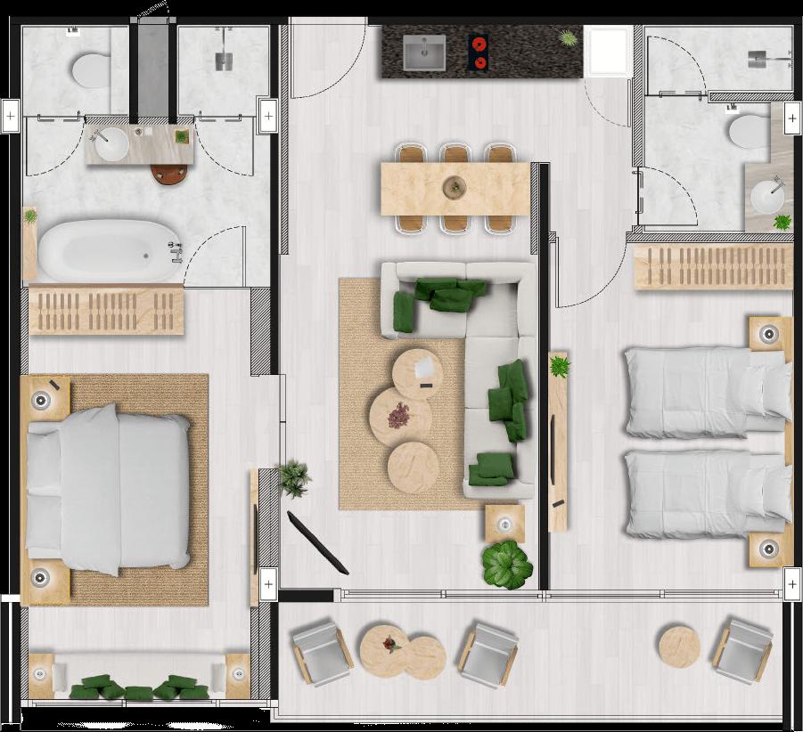 Melia Phuket Karon Residences Two Bedroom Residence