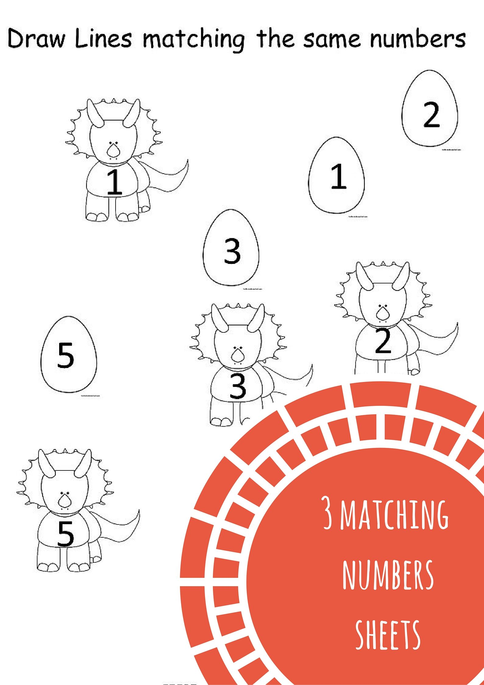 Number Matching Worksheets Free Printables