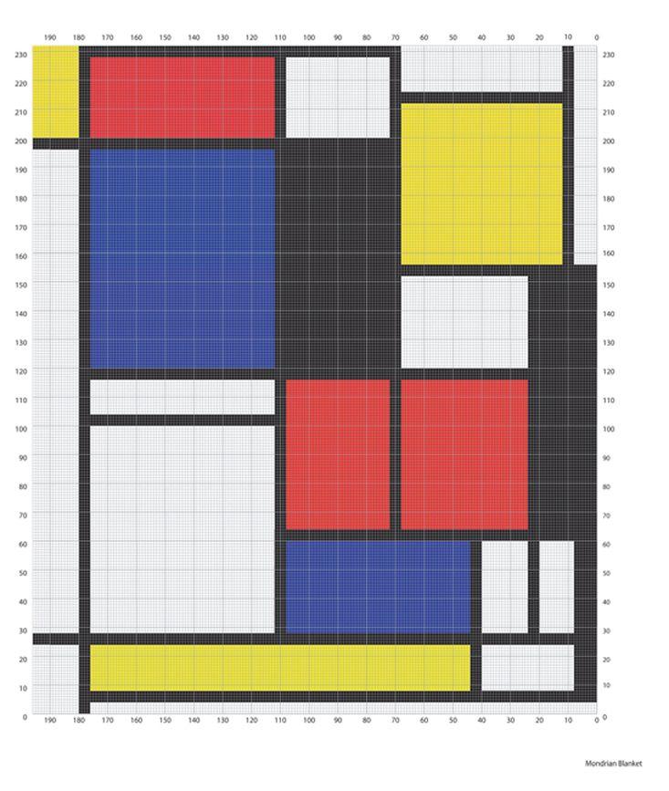 Free Crochet Pattern 40414 Mondrian Blanket : Lion Brand Yarn ...
