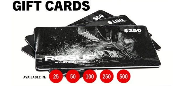 Gift Cards From Rogue Fitness Gift Card Egift Card Gifts