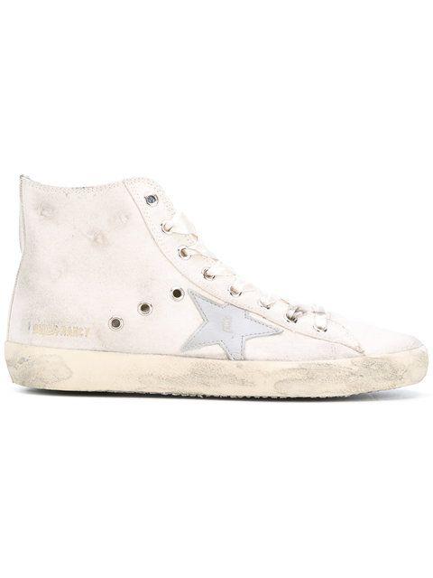 GOLDEN GOOSE Francy high-top sneakers. #goldengoose #shoes #sneakers