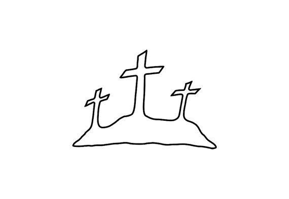 Three Crosses Clip Art 3 Crosses Calvary S Hill Illustration