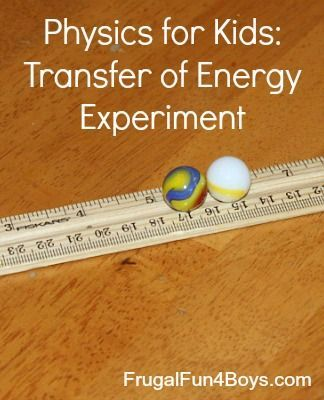 Transfer of Energy Science Experiment | Simple science ...