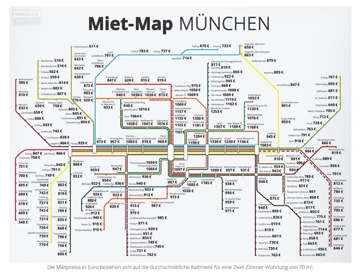 München Karte Deutschland.Unsere Miet Map München Wer Hoch Ist Eigentlich Der