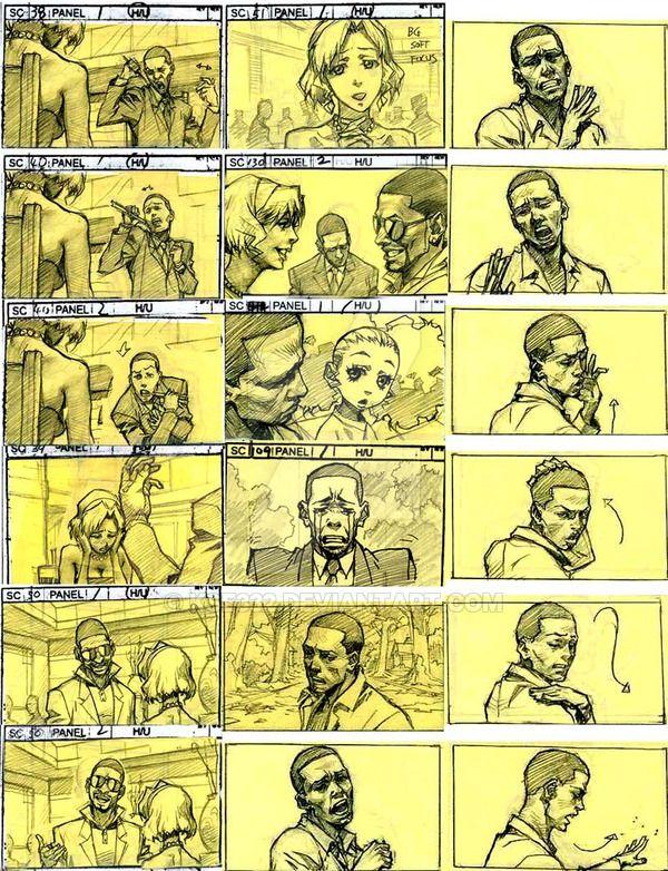 The Boondocks Story Board 2 Storyboard Illustration Storyboard Drawing Boondocks