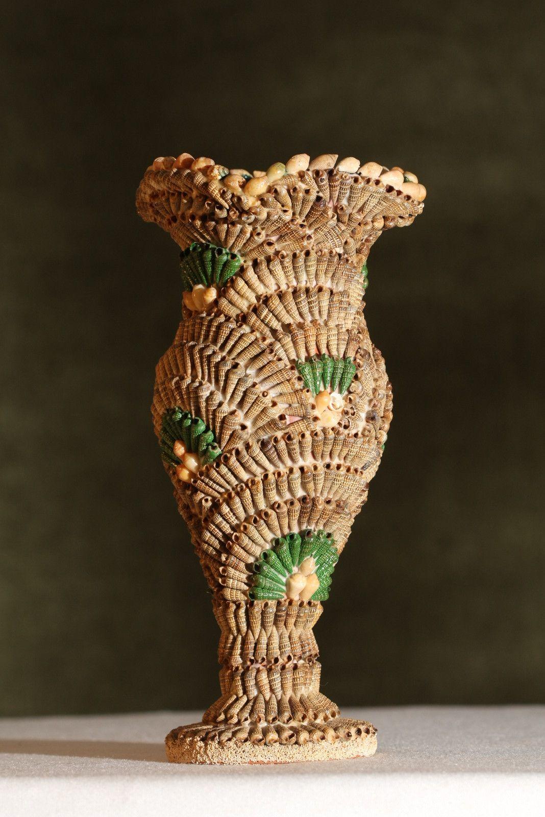 Seashell vase seashell craft idea pinterest shell shell seashell vase reviewsmspy
