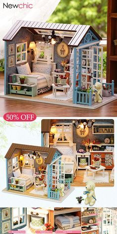 50 Off Cuteroom Wooden Kids Doll House With Furniture Staircase