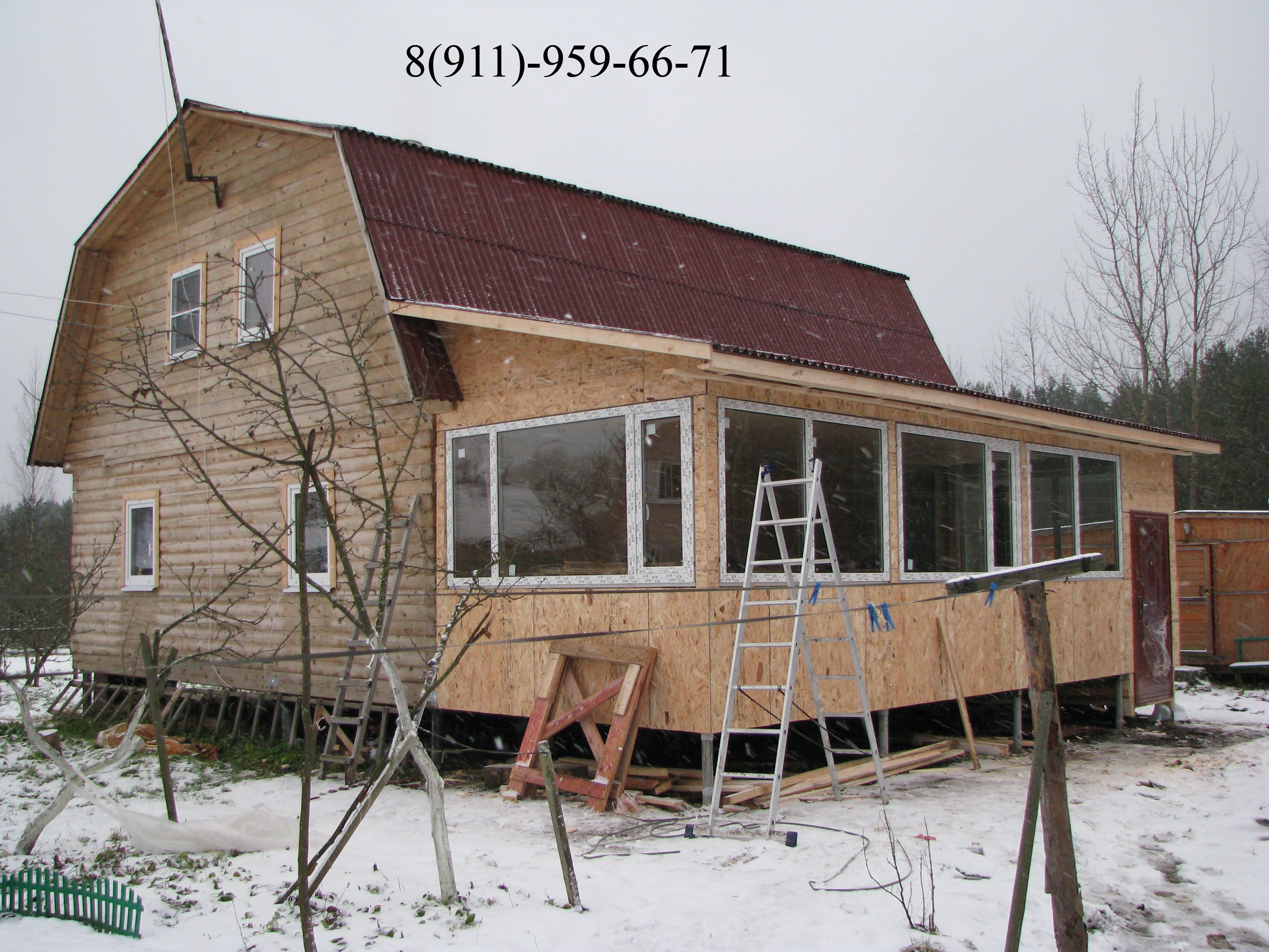 Сделай сам своими руками пристройку к деревянному дому
