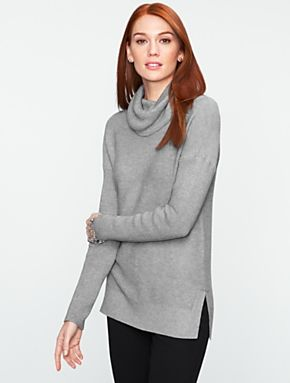 Talbots - Talbots Comfy Cotton Cowl-Neck Sweater | Sweaters ...