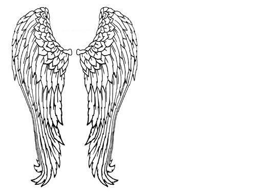 Dibujos y Plantillas para imprimir: Alas de Angel   dibujos ...